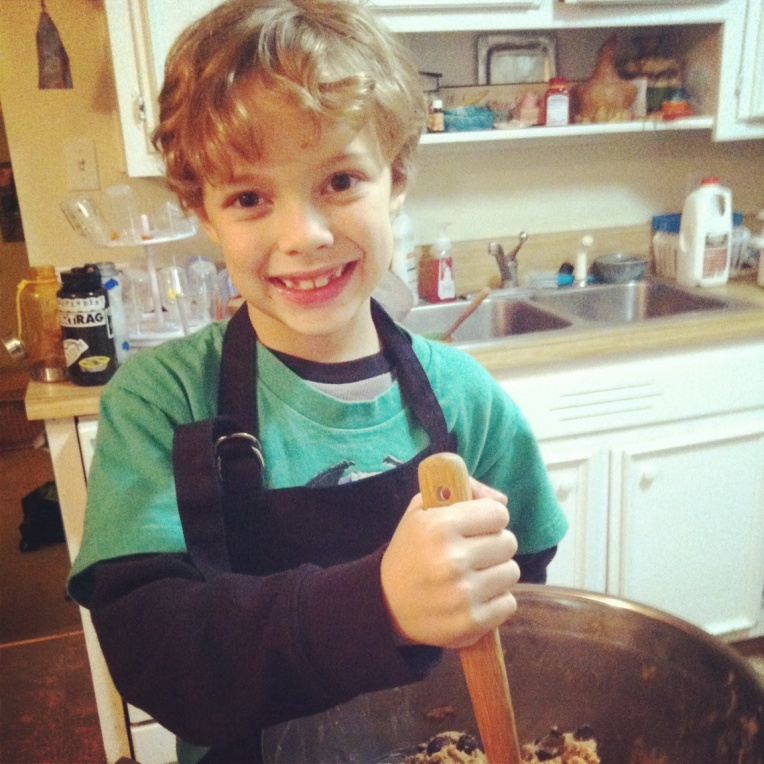 Making cookies on our Christmas Eve
