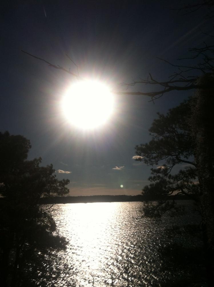 Sun Shining as the Moon Rises