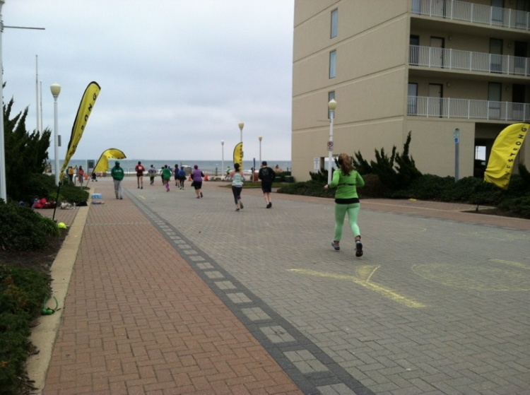 Heading to the finish