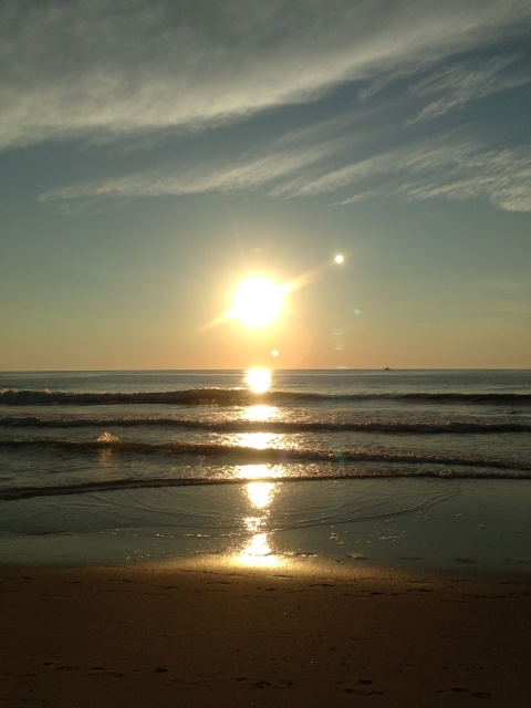 Running + Sunrise + Ocean Air = Free Therapy