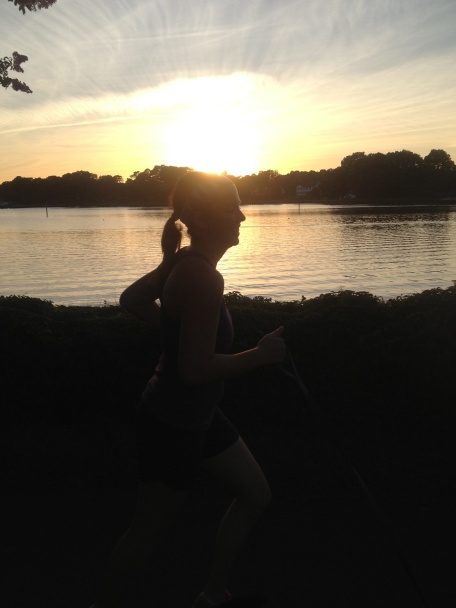 Recovery Run with my Family. At Sunset. Along the Lynnhaven River.