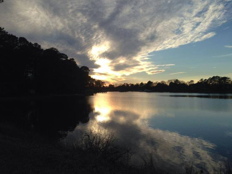 Sunset over the Lynnhaven River