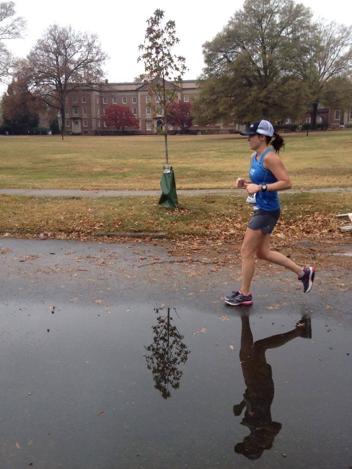 Around mile 23 at the Richmond Marathon, 2013