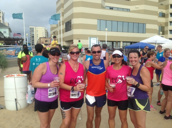 Finish line fun with some great friends